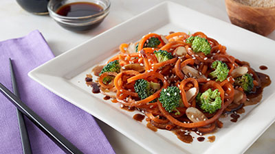 Asian Spiral Carrot Stir Fry