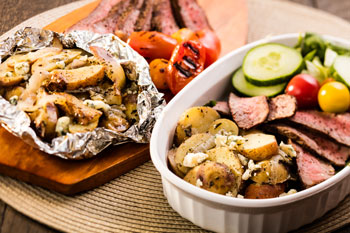 Grill Roasted Potatoes in Foil Sue Spicer 2017 Hi Res